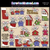ChristMouse Time 1 ClipArt Graphic Collection