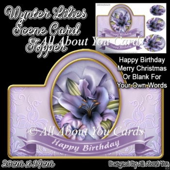 Wynter Lilies Card Topper