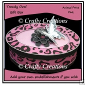 Trendy Oval Gift Box - Pink