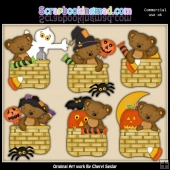 Tibbles Halloween Baskets ClipArt Collection