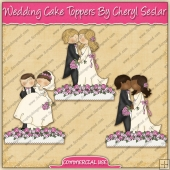Wedding Cake Toppers Graphic Collection - REF - CS