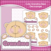 Cute Grandma Bear Decoupage Download