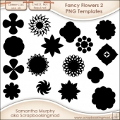 16 PNG Fancy Flower 2 Templates - CU OK