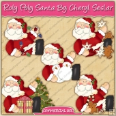 Roly Poly Santa Graphic Collection - REF - CS