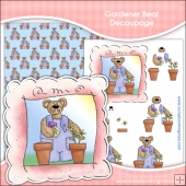 Bear Gardener Decoupage Download
