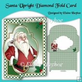 Santa Upright Diamond Fold Card