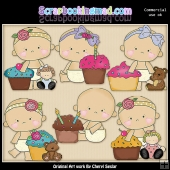 Sweet Baby Cupcakes ClipArt Graphic Collection