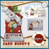 Beary Christmas Decoupage Shaped Easel Card Kit