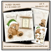 Huggy Bears 8 x 8 Card Kit - Naughty List