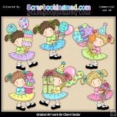 Birthday Sally ClipArt Graphic Collection