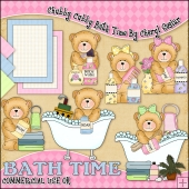 Chubby Cubby Bath Time ClipArt Graphic Collection