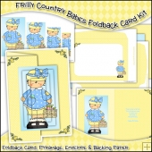 Frilly Country Babes Foldback Card, Envelope & Backing Paper