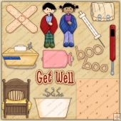 Get Well ClipArt Graphic Collection