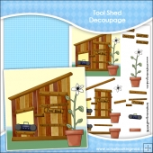 Tool Shed, Dad's Shed, Boys Den, Keep Out Decoupage Download