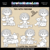 Charlottes Tea Party Digital Stamp Graphic Collection