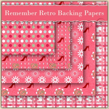 5 Remember Retro Backing Papers Download (C104)
