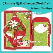 Christmas Bells Diamond Fold Card