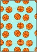 A4 Backing Papers Single - Turquoise Basketball - REF_BP_162
