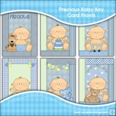 6 Precious Baby Boy Quick Greeting Cards