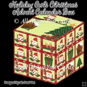 Holiday Owls Christmas Advent Calendar Box