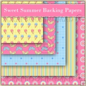 Sweet Summer Backing Papers Download (C122)