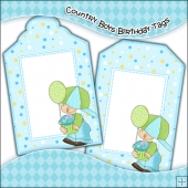 Country Boys Birthday Gift Tags - REF T688 & REF T689