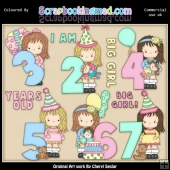 Little Grechin Birthday Numbers 2 ClipArt Graphic Collection