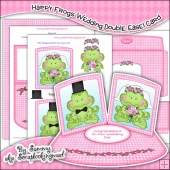 Happy Frogs Wedding Double Easel Card Download