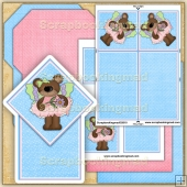 Butterfly Bears Diamond Top Card PDF Download