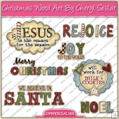 Christmas Word Art ClipArt Graphic Collection - REF - CS