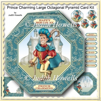 Prince Charming Large Octagonal Pyramid Card Kit