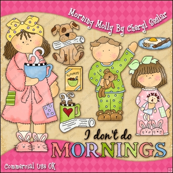 Morning Molly ClipArt Graphic Collection