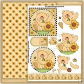 Sunflower Bear PDF Decoupage Download