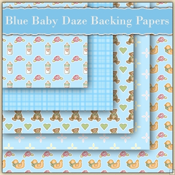 5 Blue Baby Daze Backing Papers Download (C85)