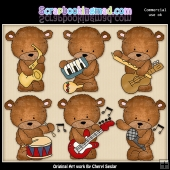 Baxter Loves Music ClipArt Graphic Collection