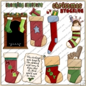 Xmas Stockings ClipArt Graphic Collection