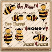 RESALE ART WORK - Honey Bees Clipart Collection