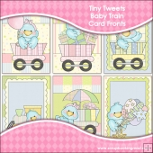 6 Tiny Tweets Baby Train Card Fronts
