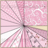 15 Breast Cancer Awareness Backing Papers Download (C40)
