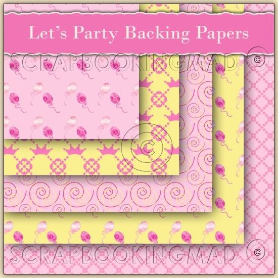 5 Let's Party Backing Papers Download (C94) - Click Image to Close