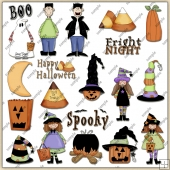 Halloween ClipArt Graphic Collection 1