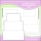 Template Overlay Wedding Cake Or Birthday Sheet