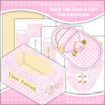 Baby Girl Shoe & Gift Box Keepsake