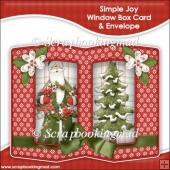 Simple Joys Double Window Box Card and Envelope