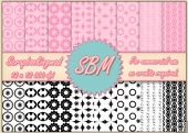 8 PNG Paper Overlays 12 x 12 Designer Resources Pack 6