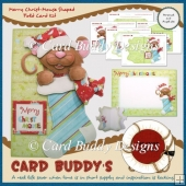Merry Christ-Mouse Shaped Fold Card Kit