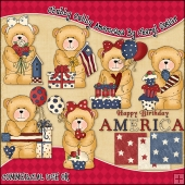 Chubby Cubby Americana ClipArt Graphic Collection