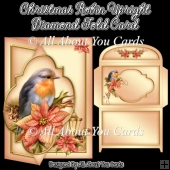 Christmas Robin Upright Diamond Fold Card