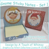 Gnome Sticky Note Desk top Boxes - Set 1