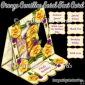Orange Camellia Easel Tent Card
